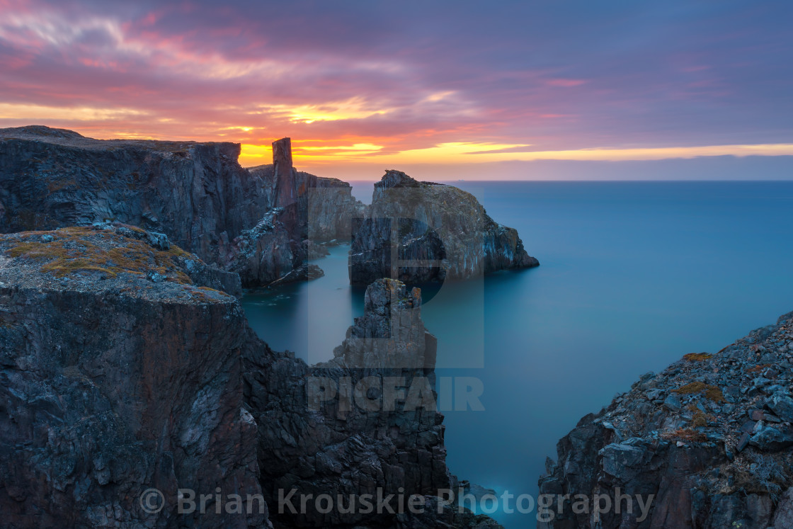 """Spillars Cove Sunrise"" stock image"