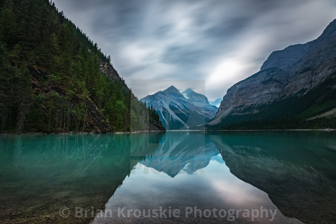 """Mountain Reflections"" stock image"