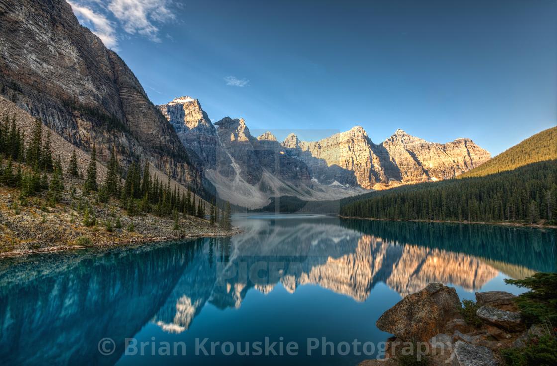 """Moraine Lake Reflections"" stock image"
