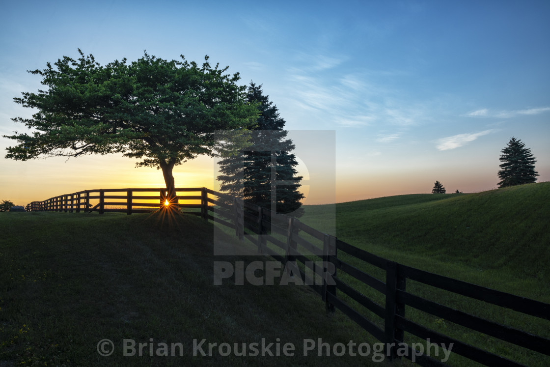 """Sunrise in Caledon"" stock image"