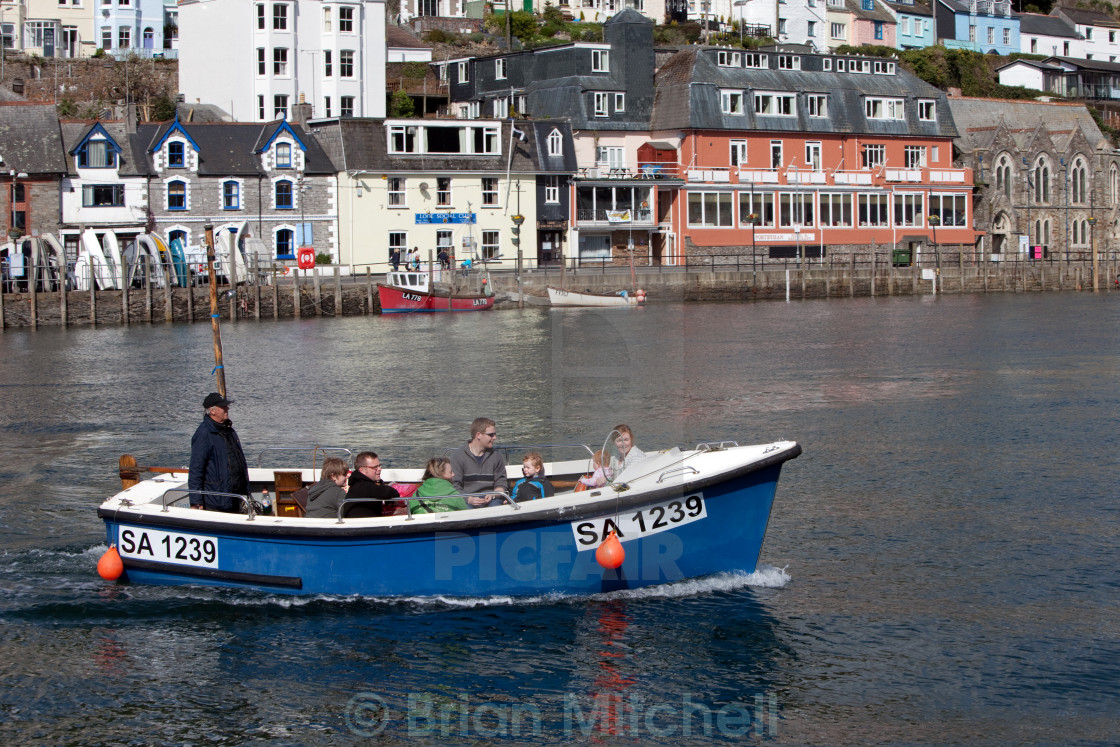 """Cornish Water Taxi"" stock image"