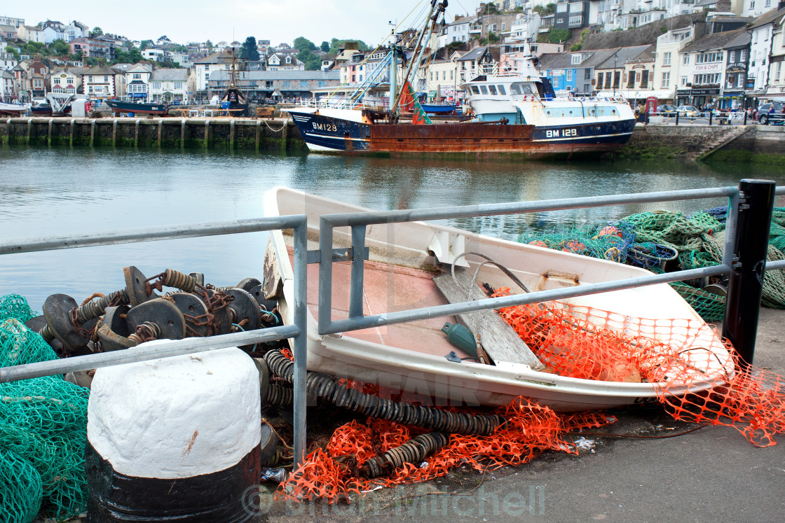 """""""Working Harbour"""" stock image"""