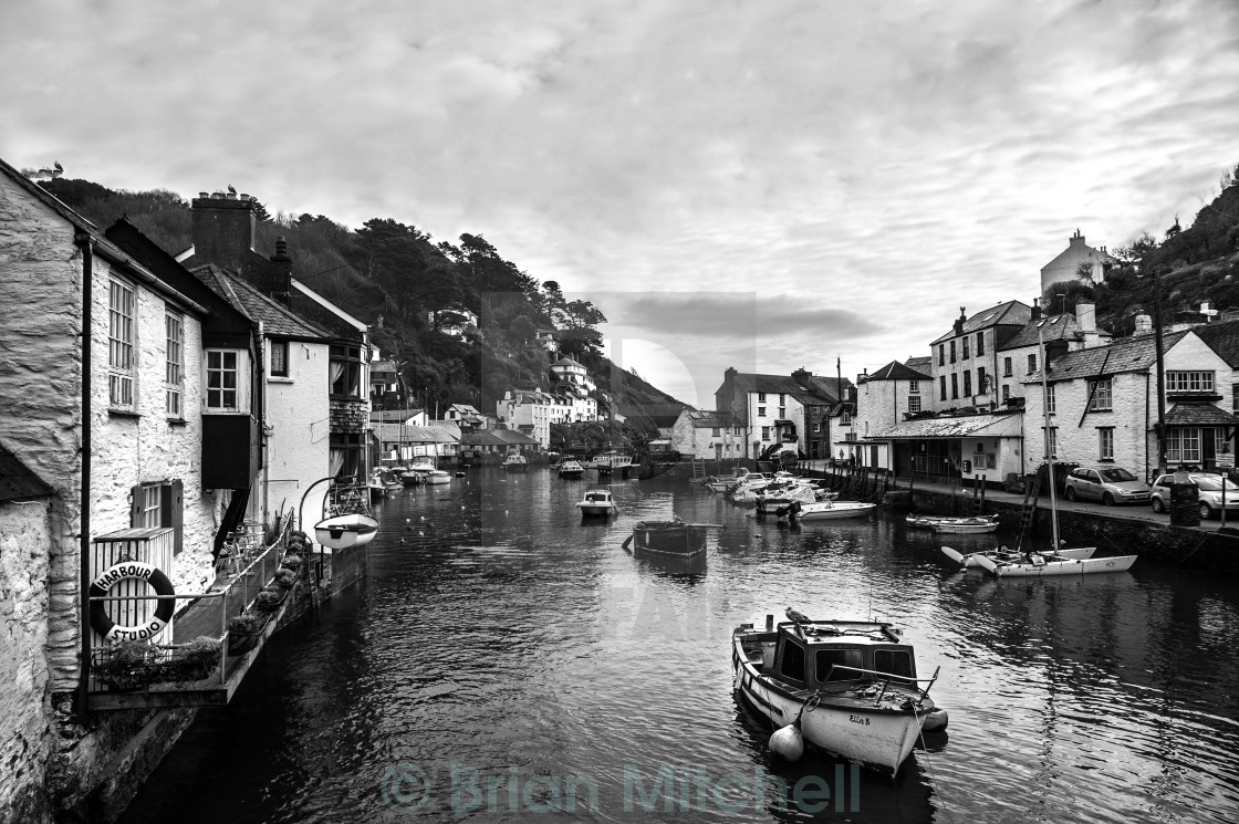"""Quiet time at Polperro"" stock image"