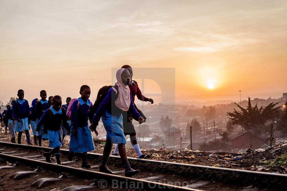 """Heading to school"" stock image"