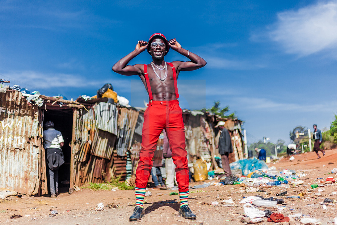 """Fashion in Kibera"" stock image"