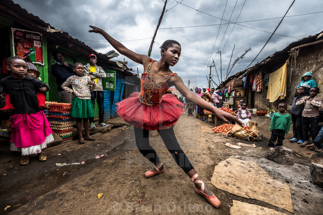 """Ballet In Kibera."" stock image"
