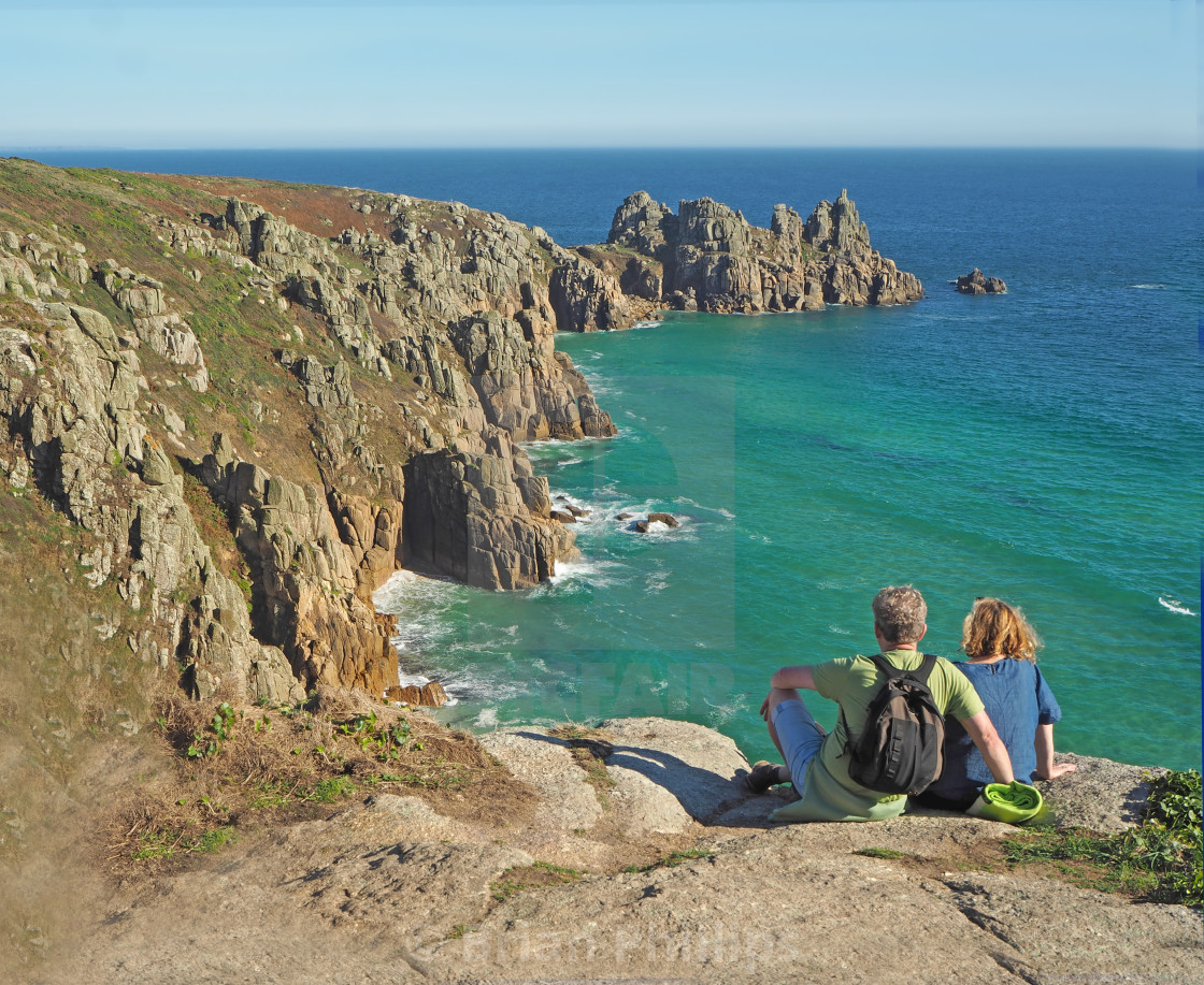 """Rugged cornish Coastline"" stock image"