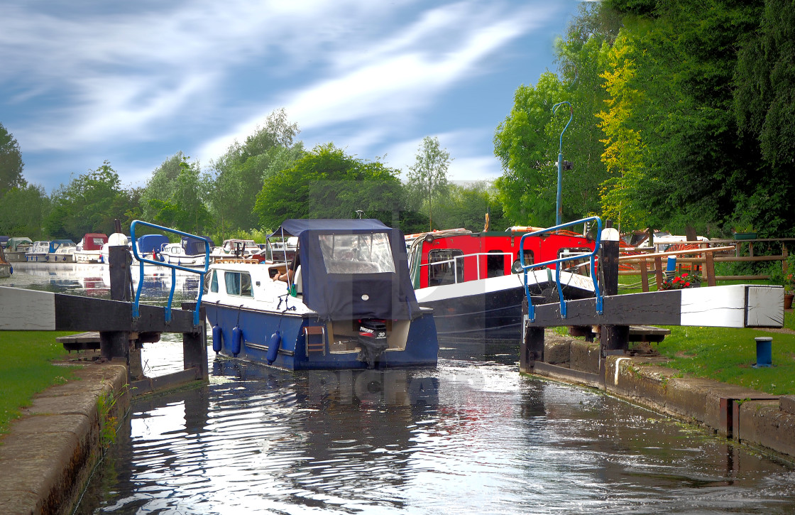"""Papermill Lock, Chelmsford, Essex, UK"" stock image"