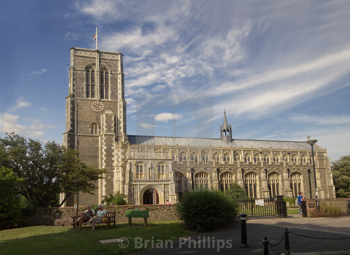 """St Edmund's Church, Southwold"" stock image"