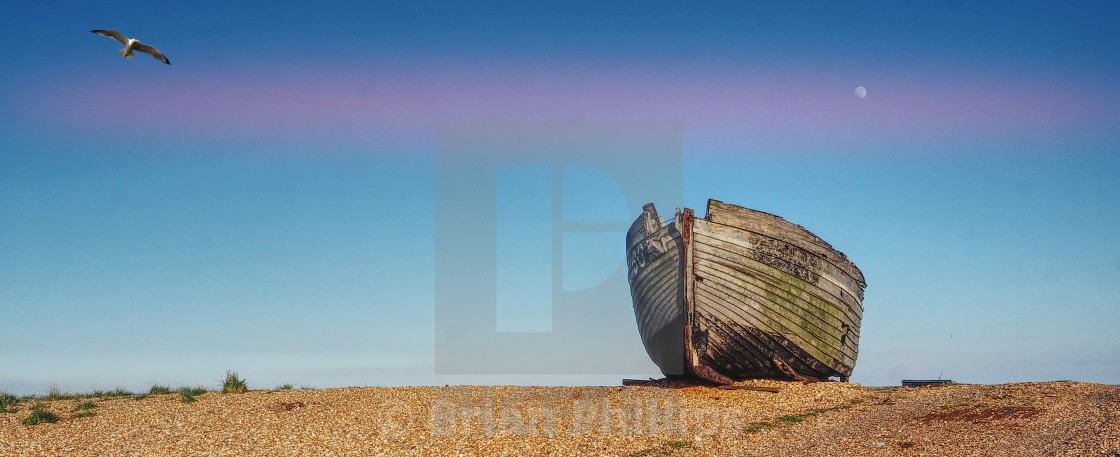 """""""Old Boat Dungeness"""" stock image"""