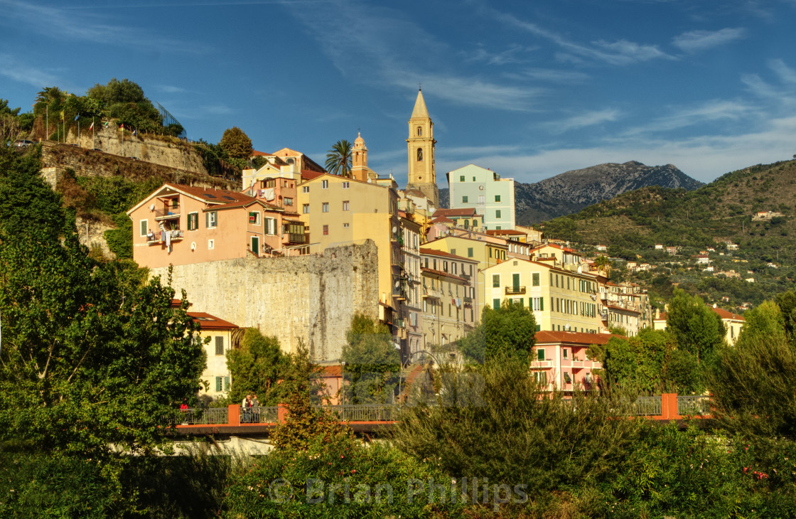 """""""The old town, ventimiglia, Italy"""" stock image"""