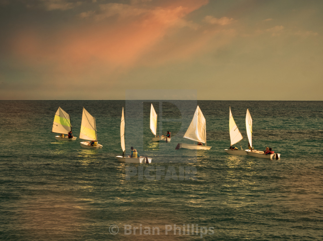 """""""Sailing in the South of France"""" stock image"""