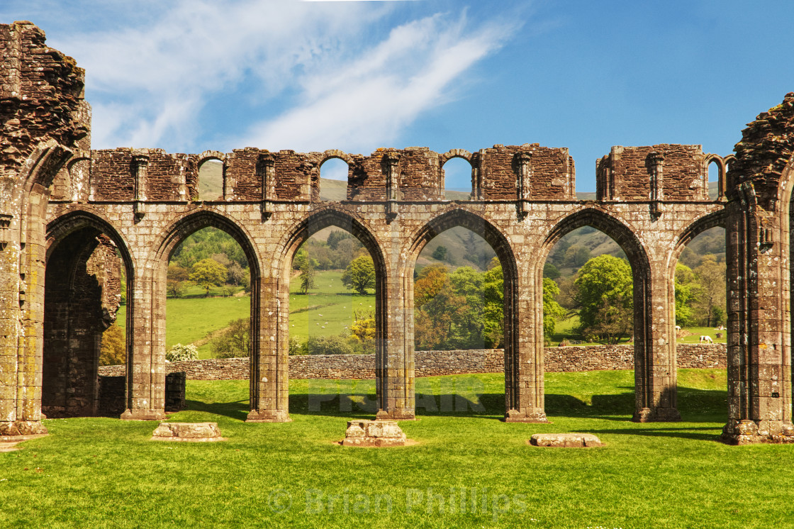 """""""Llanthony Priory, Wales,UK"""" stock image"""