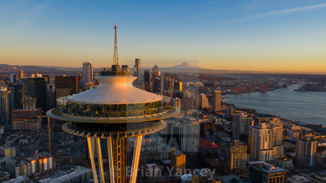"""Seattle Golden Hour."" stock image"