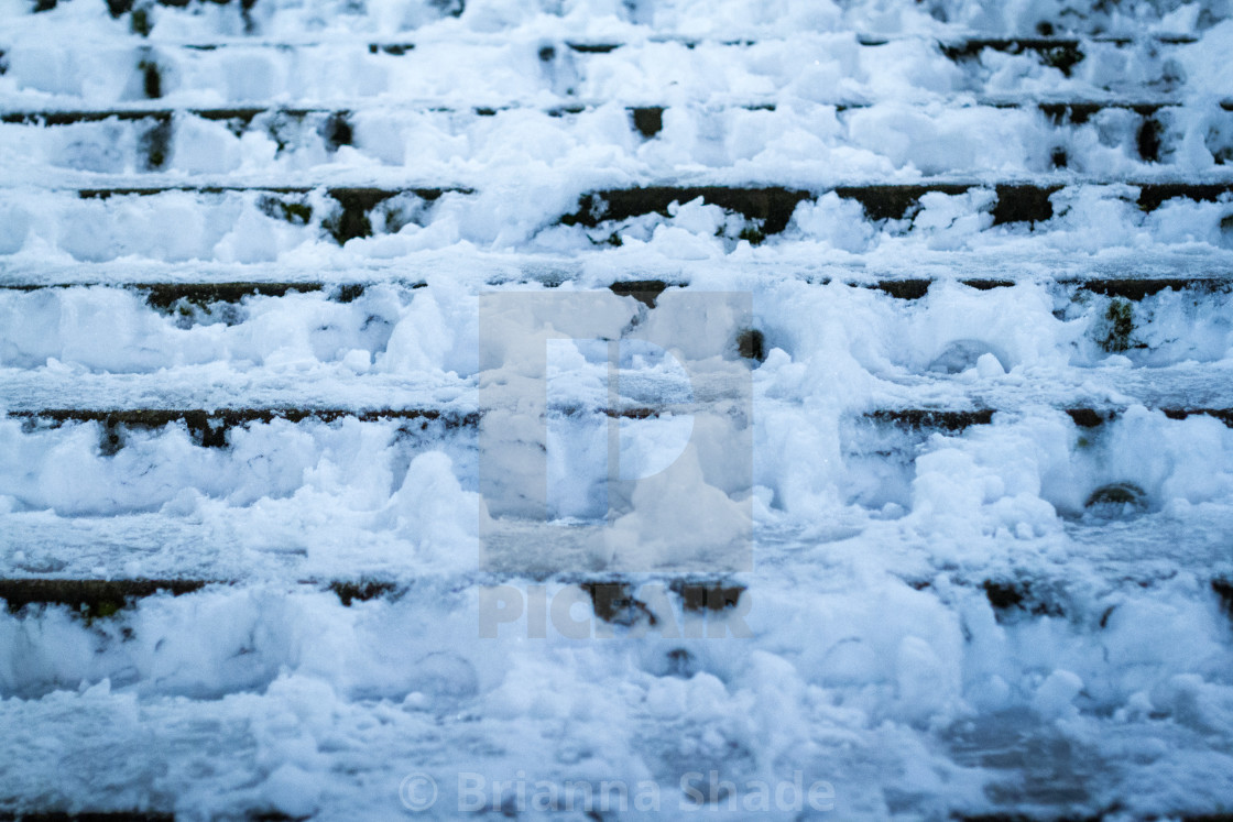 """Snow-covered Steps"" stock image"