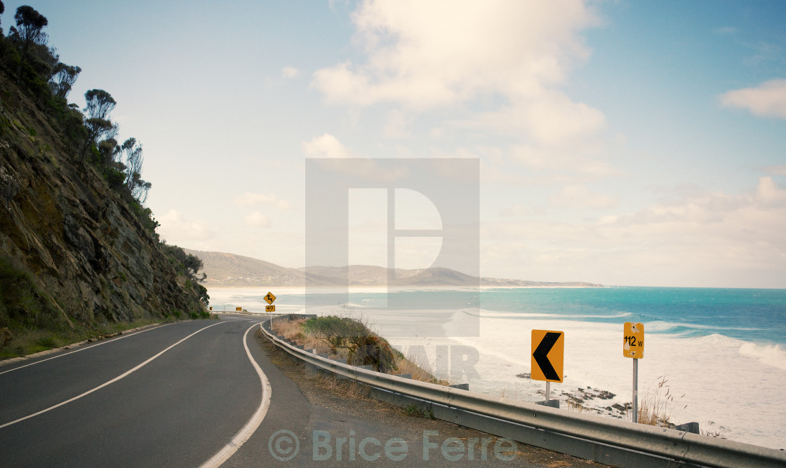 """Road Trip on the coast of Australia"" stock image"