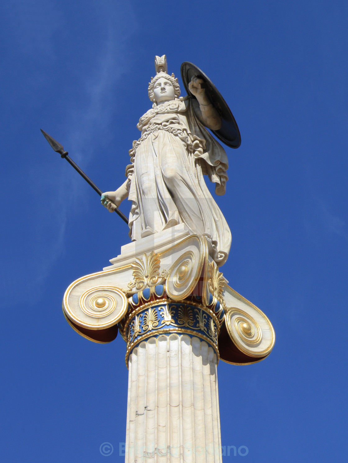 """Statue of goddess Athena in Greece"" stock image"