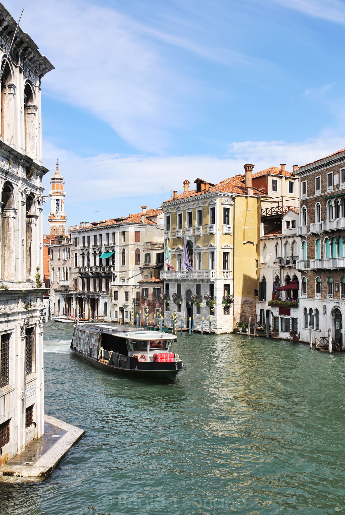 """Grand Canal in Venice from Rialto Bridge"" stock image"