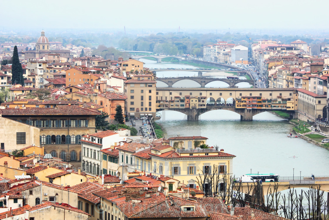 """""""Ponte Vecchio in Florence, Italy"""" stock image"""