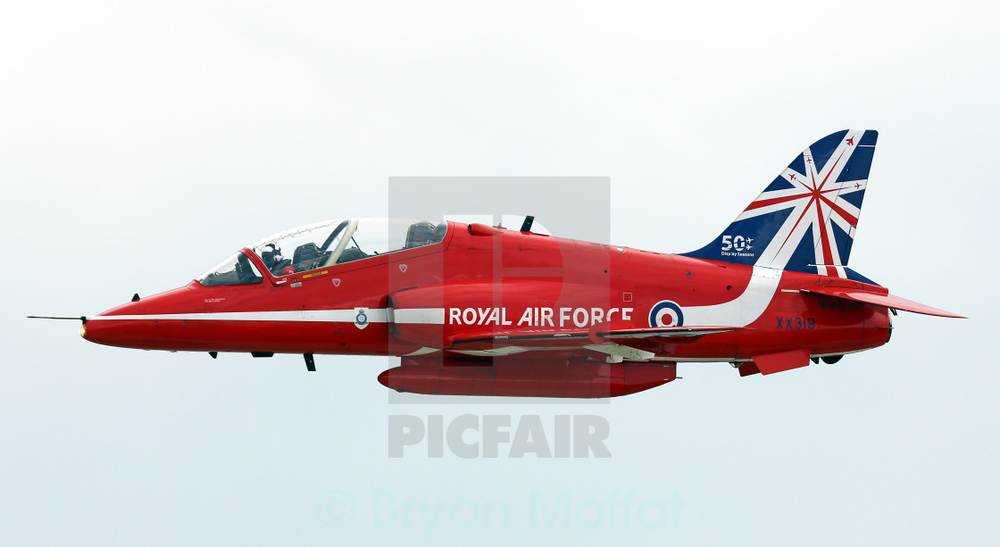 """Red Arrows Hawk"" stock image"