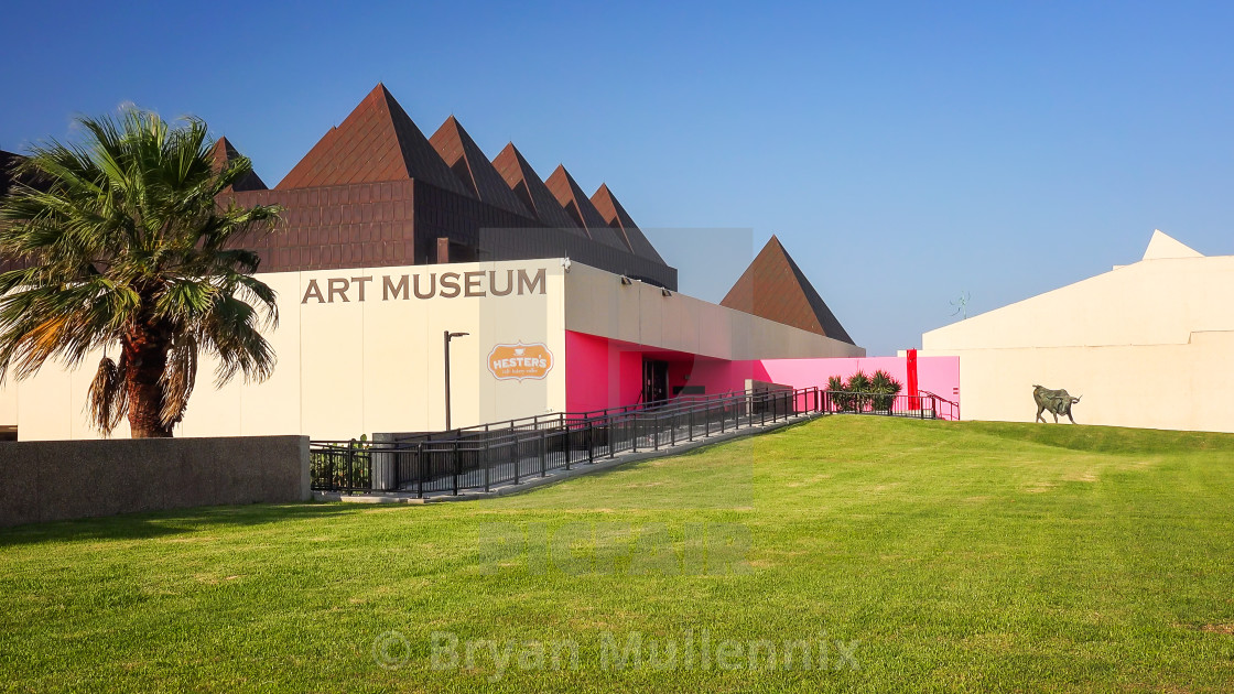 """Art Museum of South Texas in Corpus Christi"" stock image"