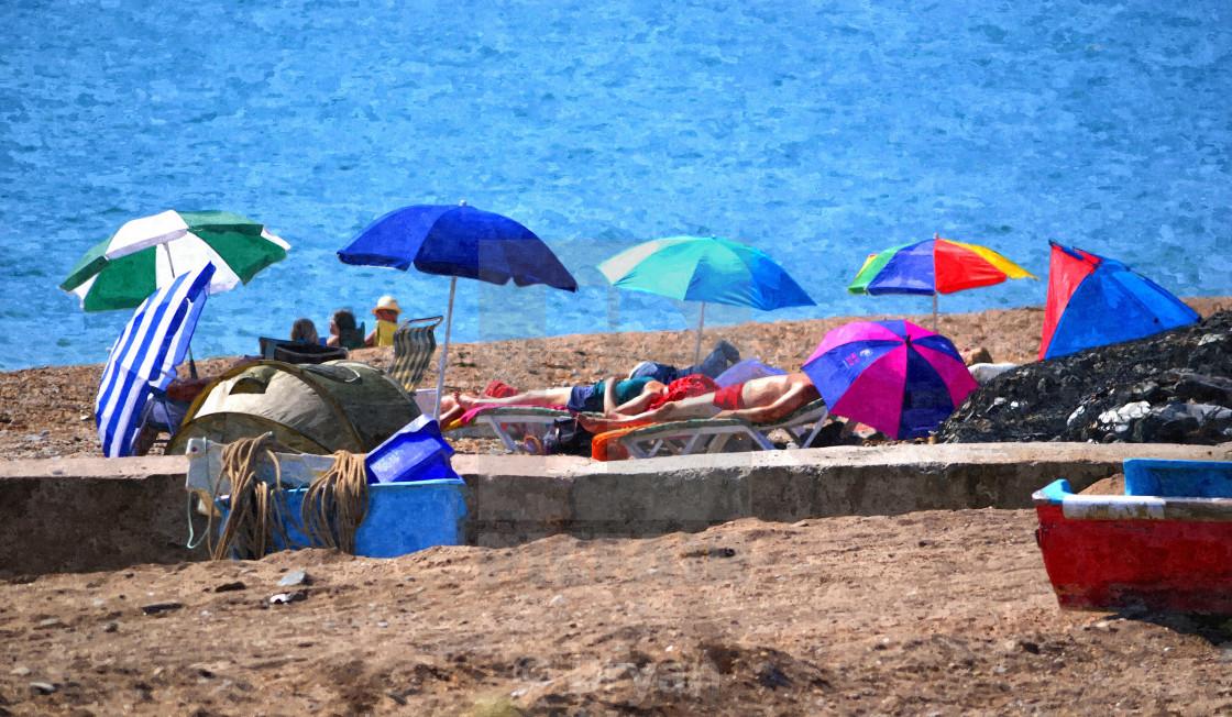 """Sunshade Seaside"" stock image"