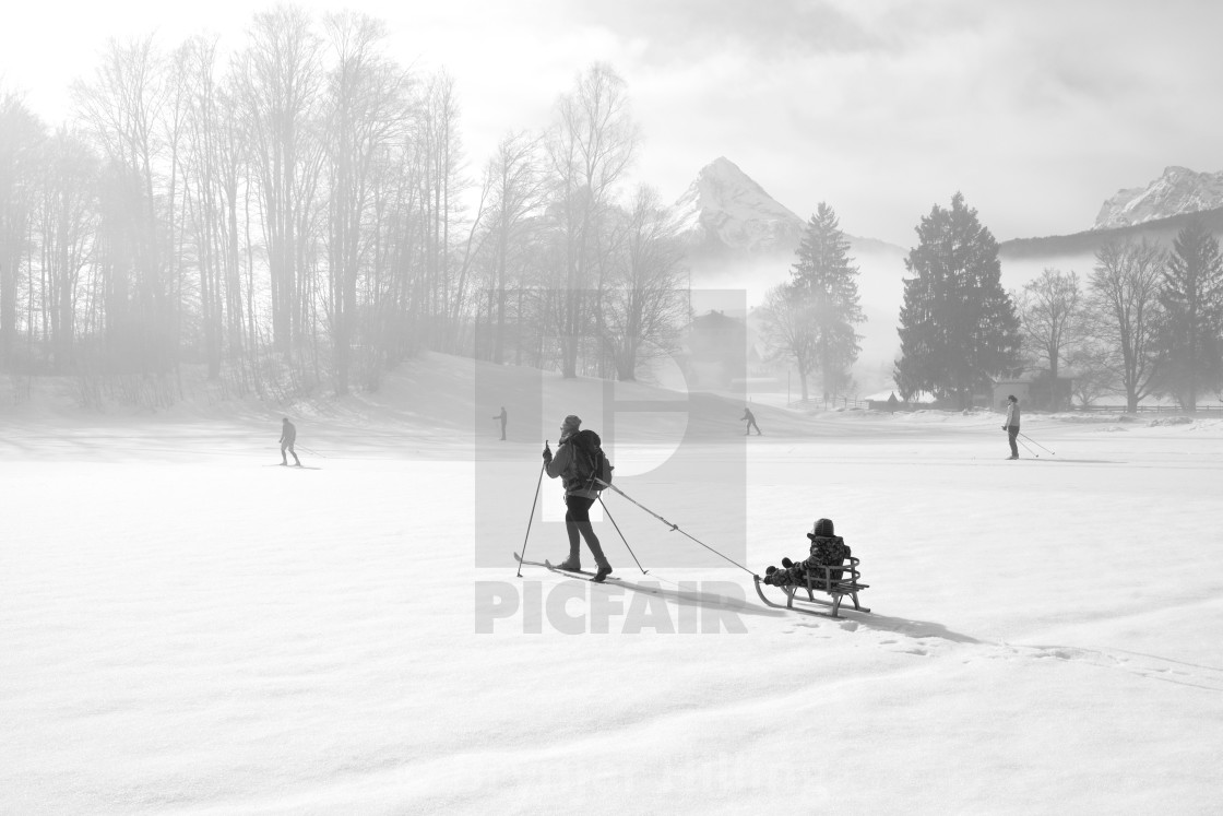 """Skiing over field"" stock image"