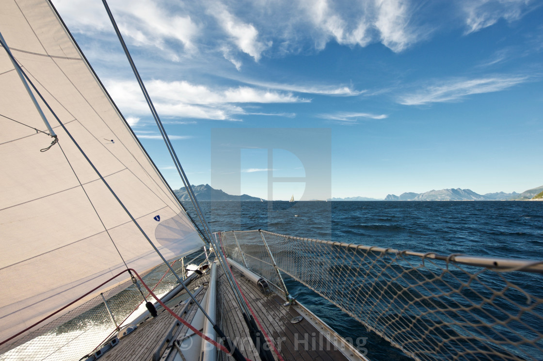 """""""Sailboat in the arctic"""" stock image"""