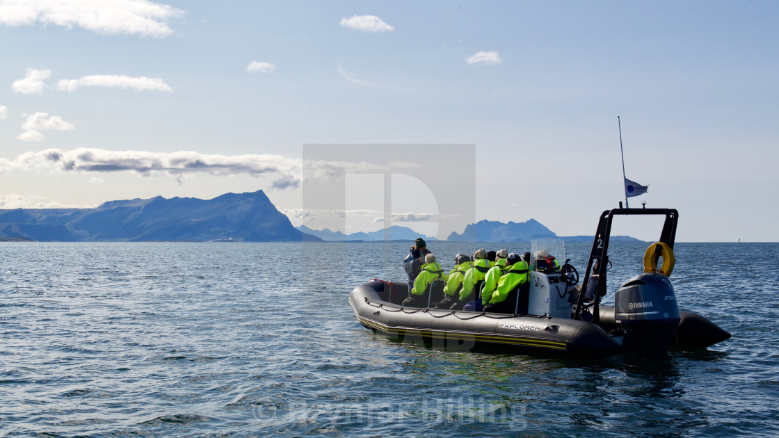 """""""Rib boat with tourists"""" stock image"""