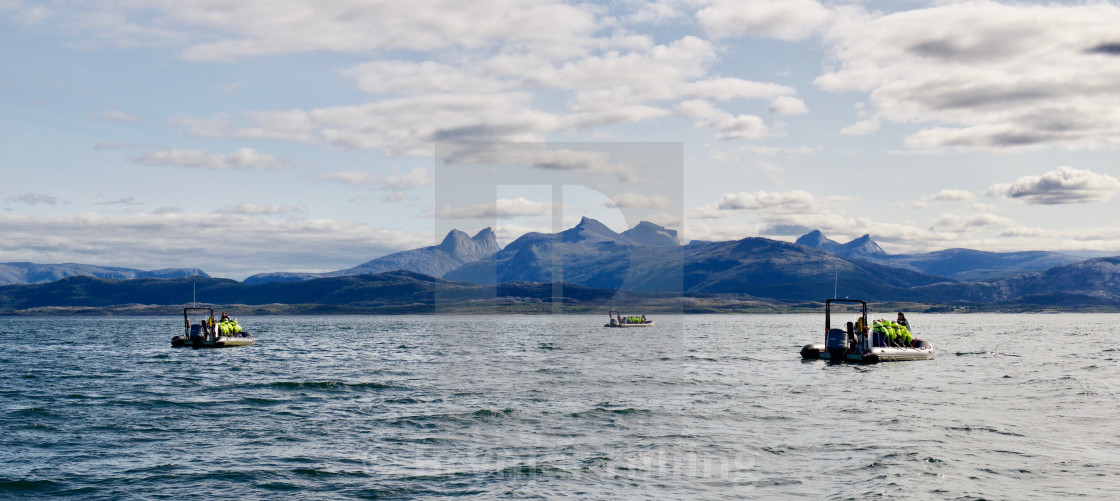 """Rib boat with tourists"" stock image"