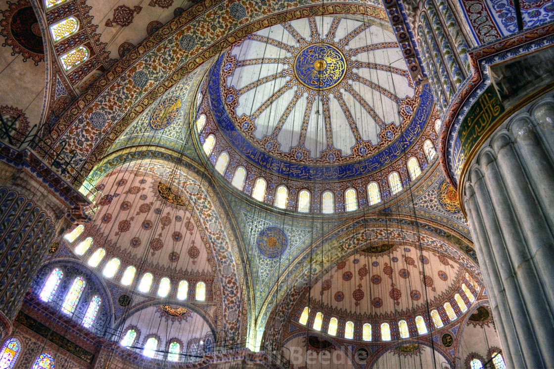 """Blue Mosque or Sultan Ahmed Mosque, Istanbul, Turkey"" stock image"