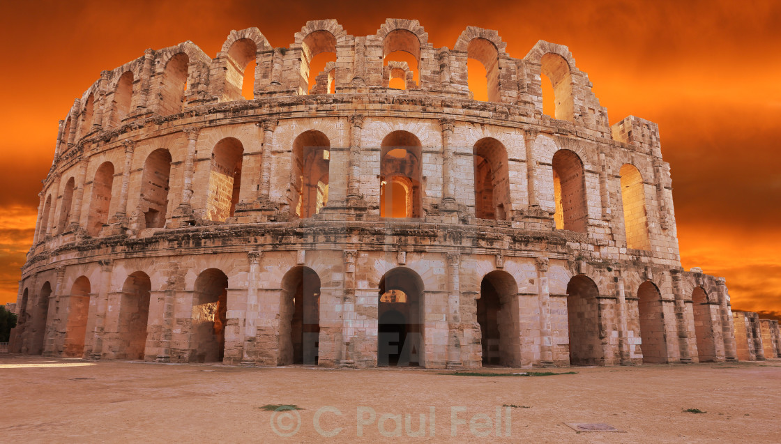"""Amphitheater of El Djem"" stock image"