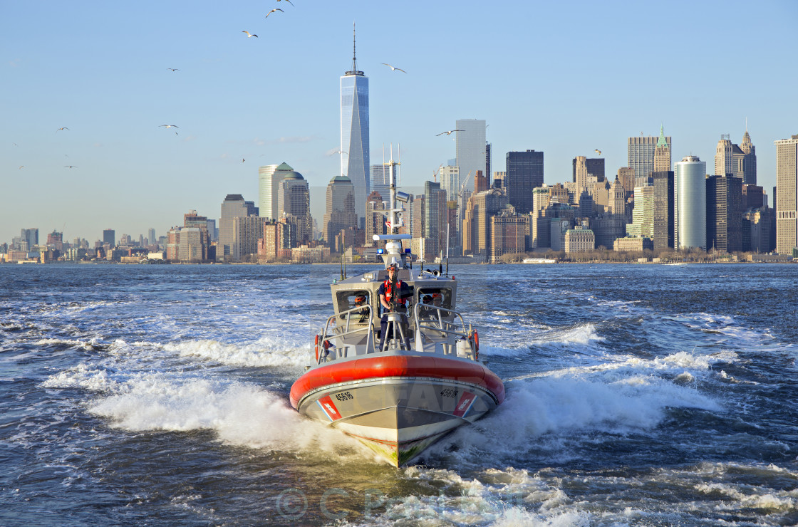 """New York Coast Guard"" stock image"