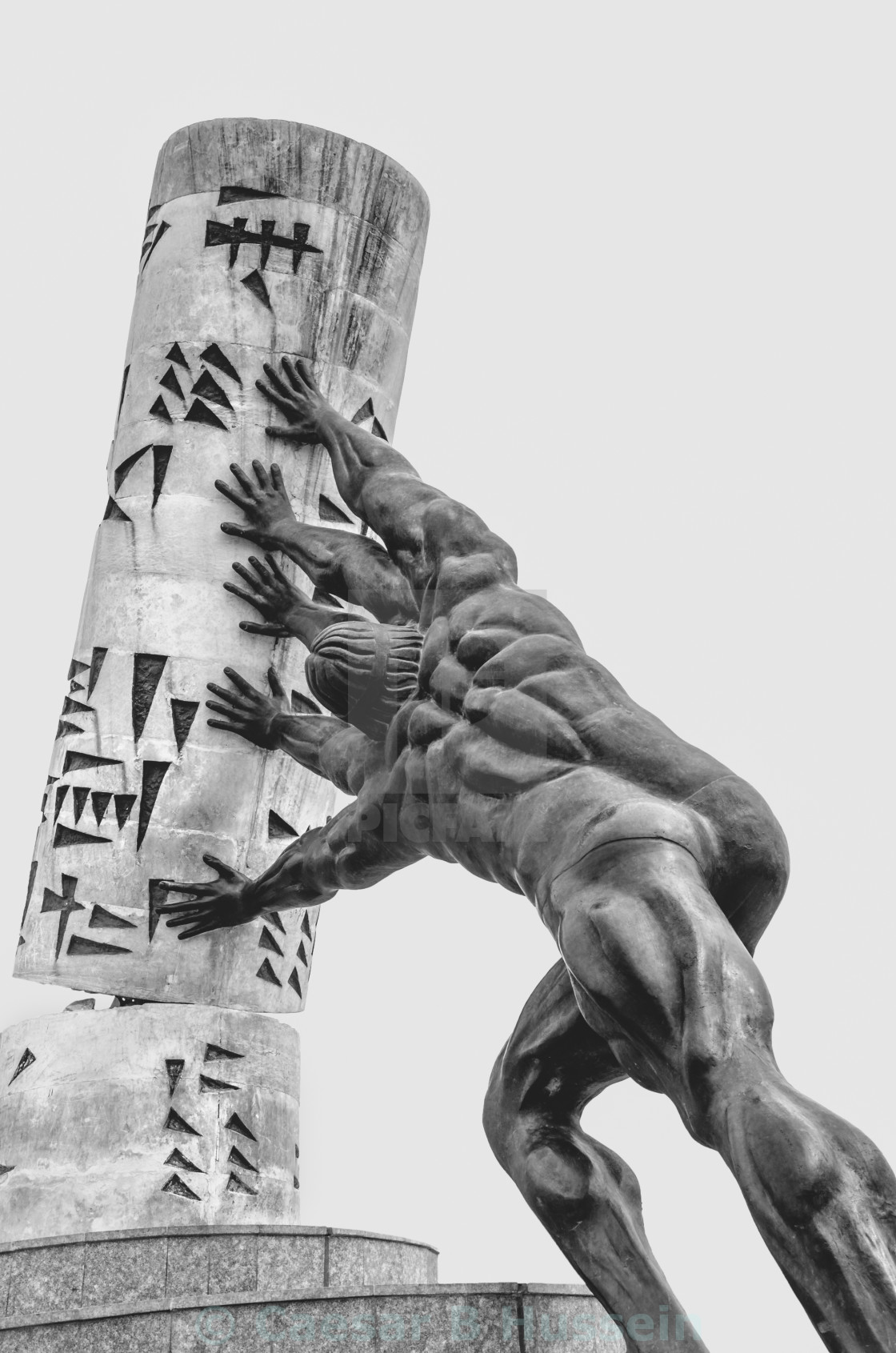 """""""Saving Culture Monument in BW"""" stock image"""