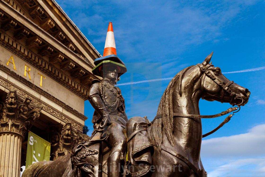 """Wellington Statue, GOMA, Glasgow."" stock image"
