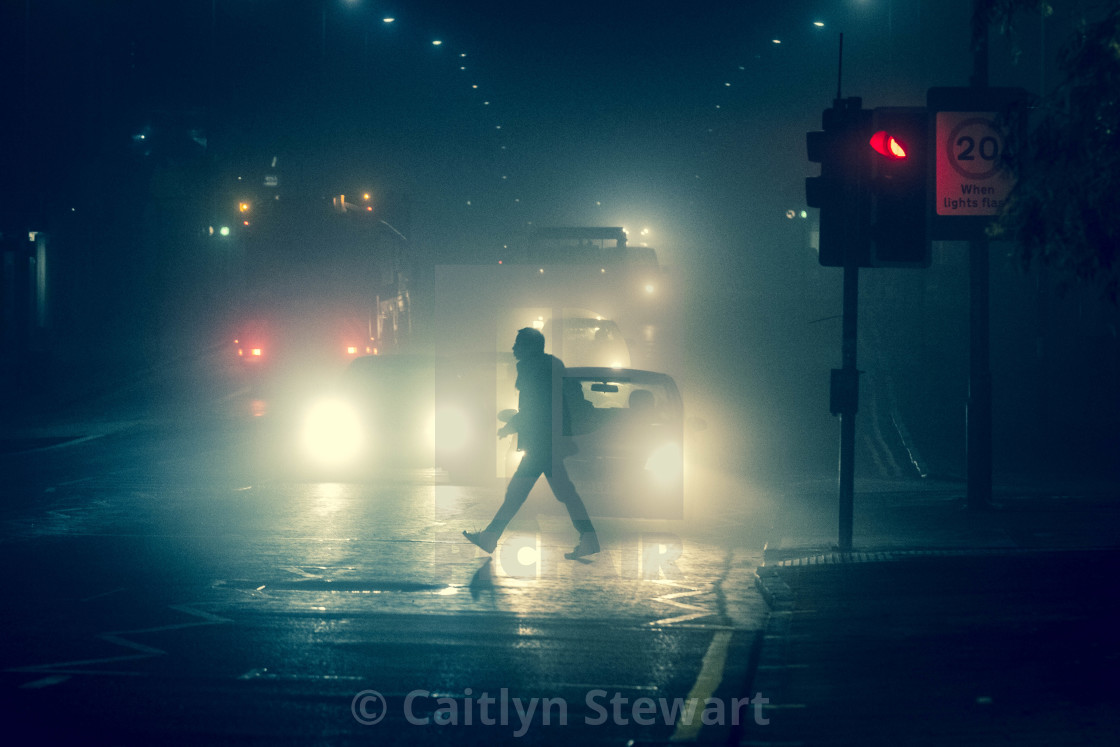 """A foggy Walk"" stock image"