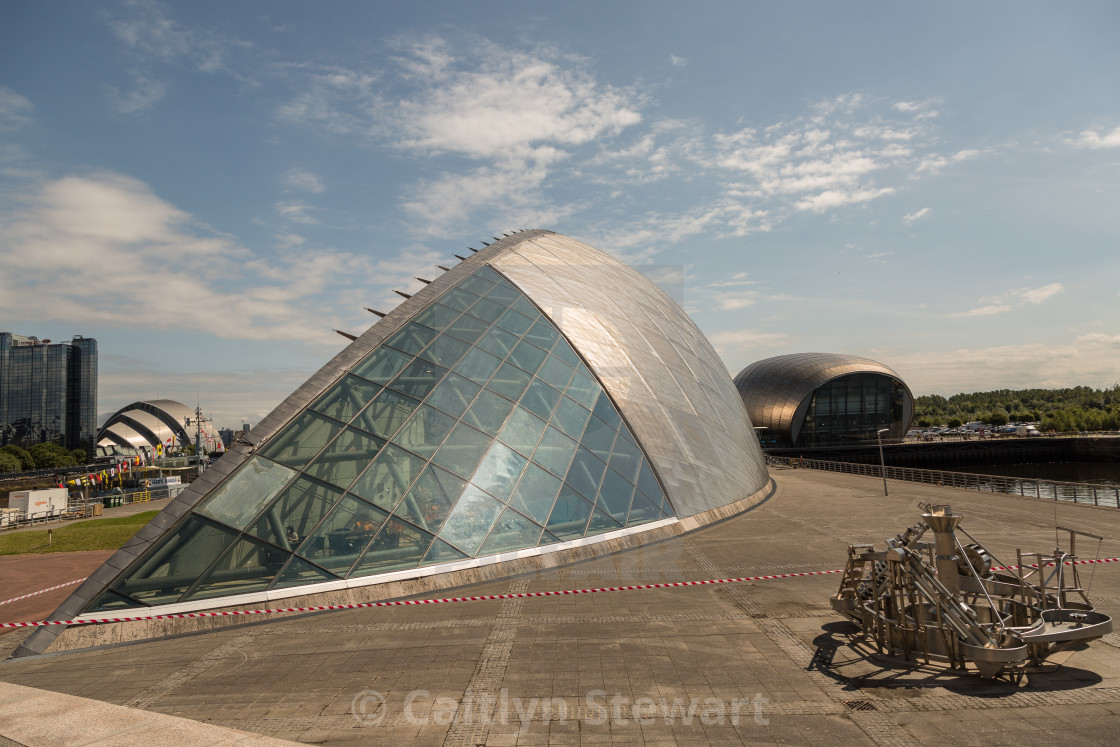 """""""Glasgow Science centre and IMAX"""" stock image"""