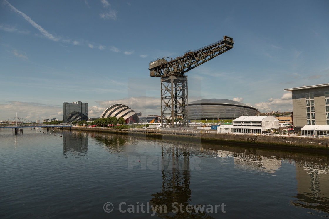 """""""River Clyde, Glasgow"""" stock image"""