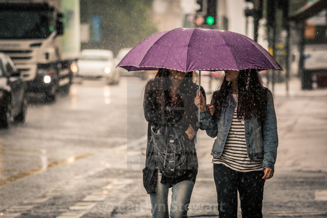 """Smiling in the Rain"" stock image"