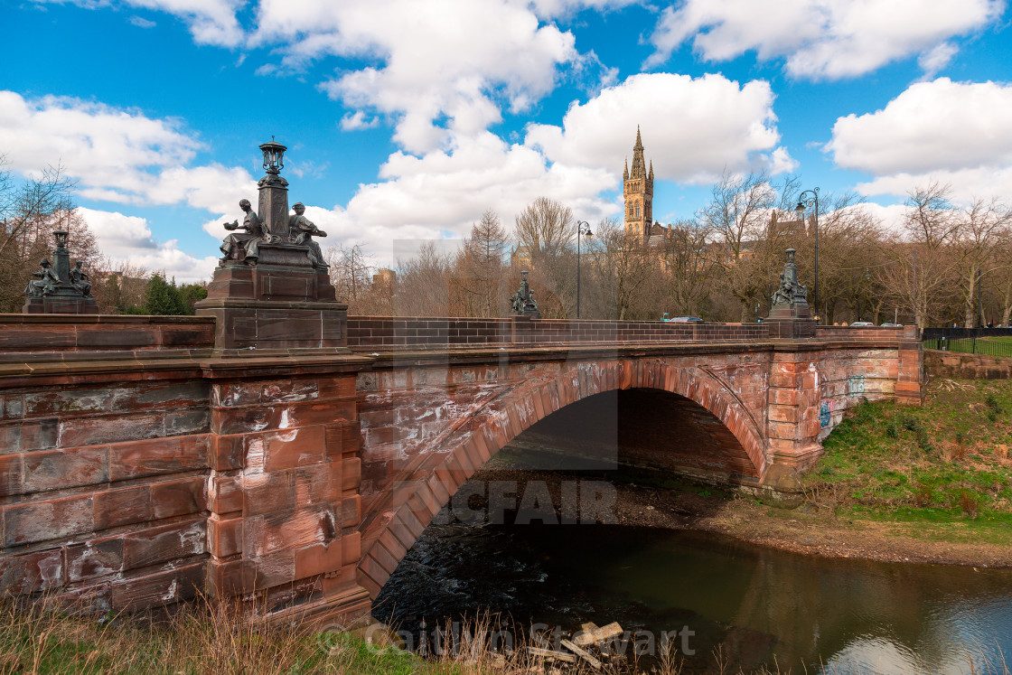 """Kelvin Way Bridge, Glasgow"" stock image"