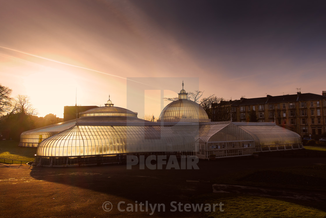 """Botanical Gardens, Glasgow"" stock image"