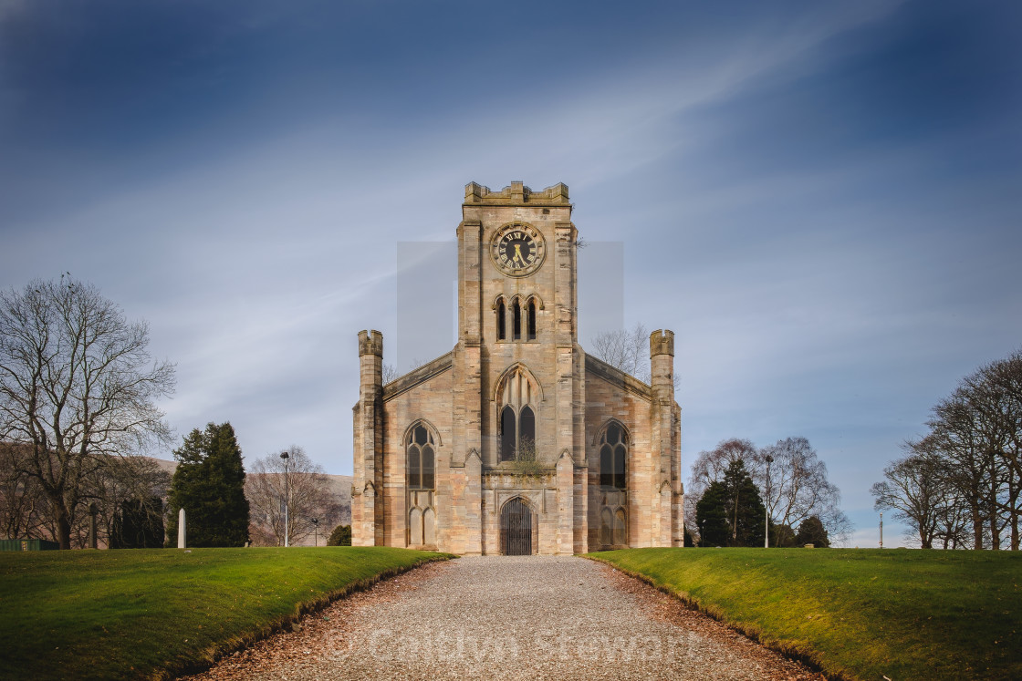 """High Kirk of Campsie"" stock image"