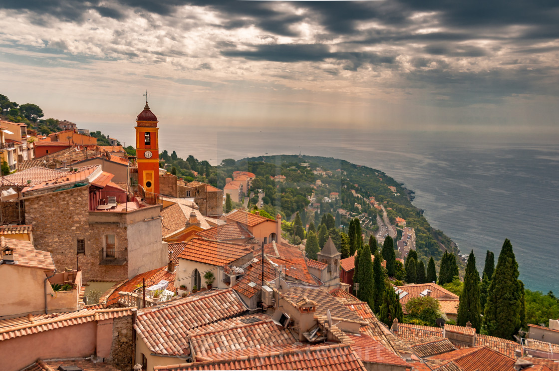 """Roquebrune Church, France"" stock image"