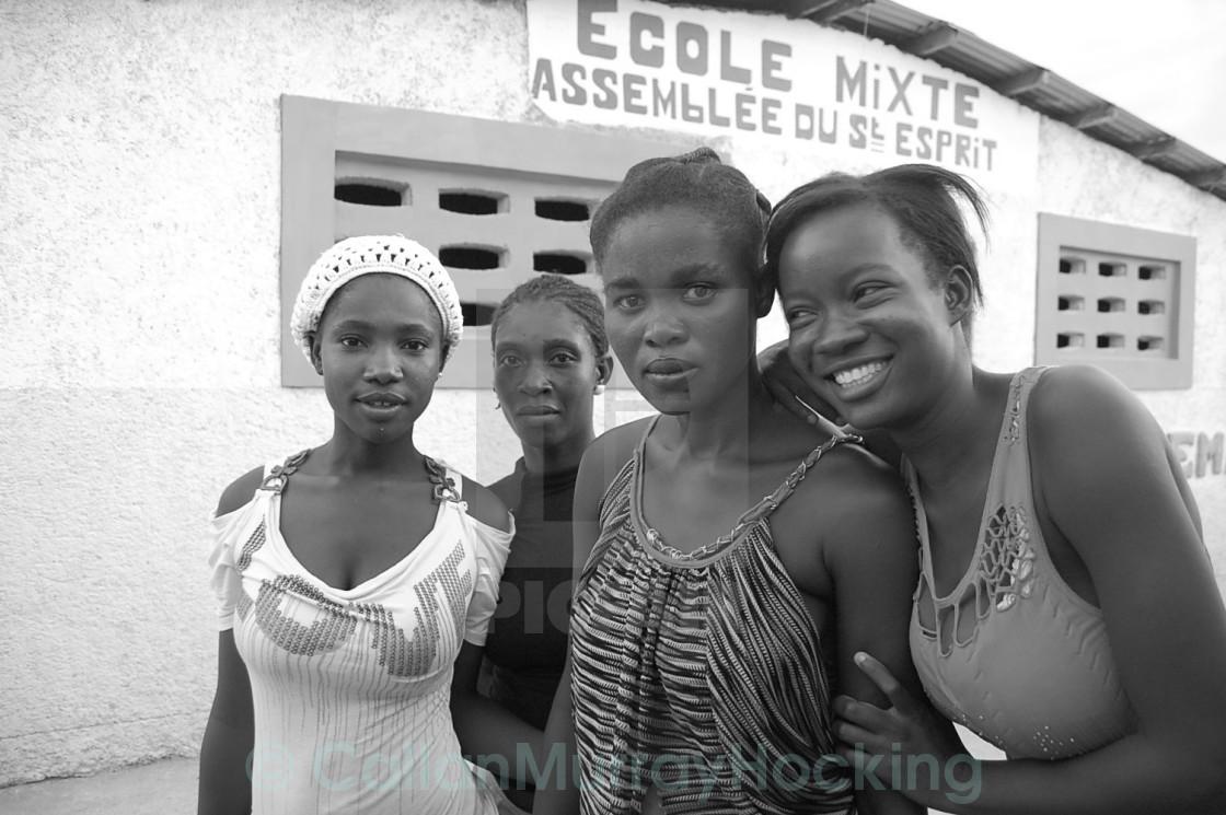 """""""Haitian Girls"""" stock image"""