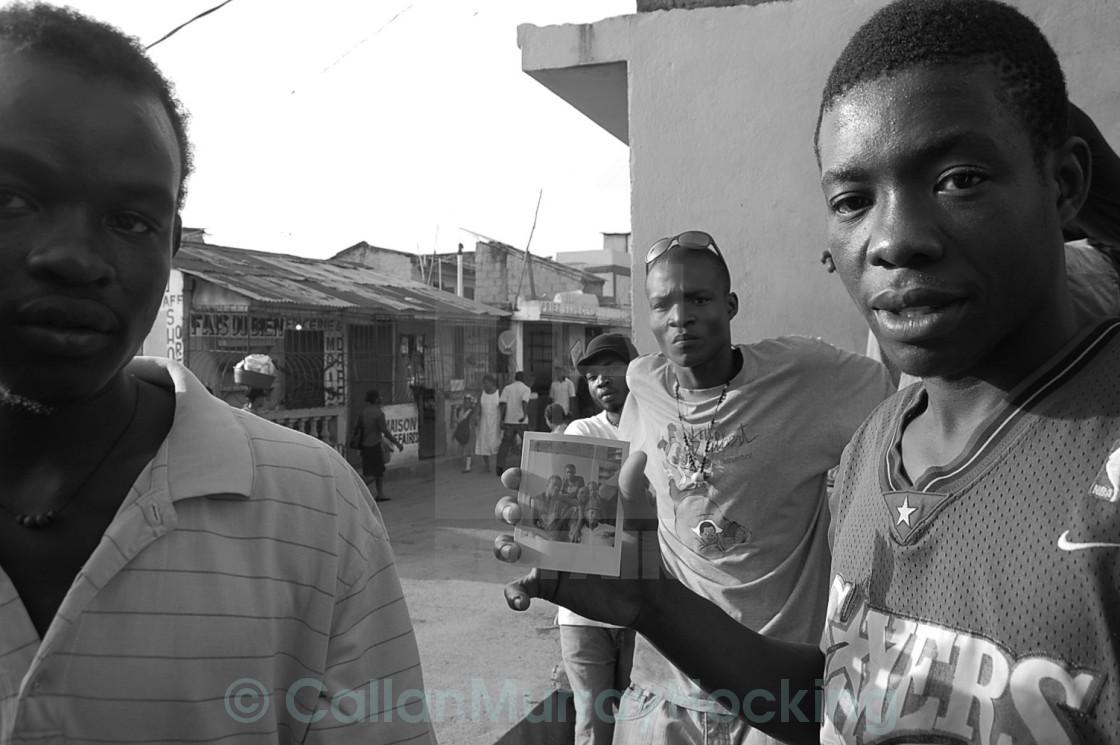 """""""Polaroid Portrait-Cap Haitien"""" stock image"""
