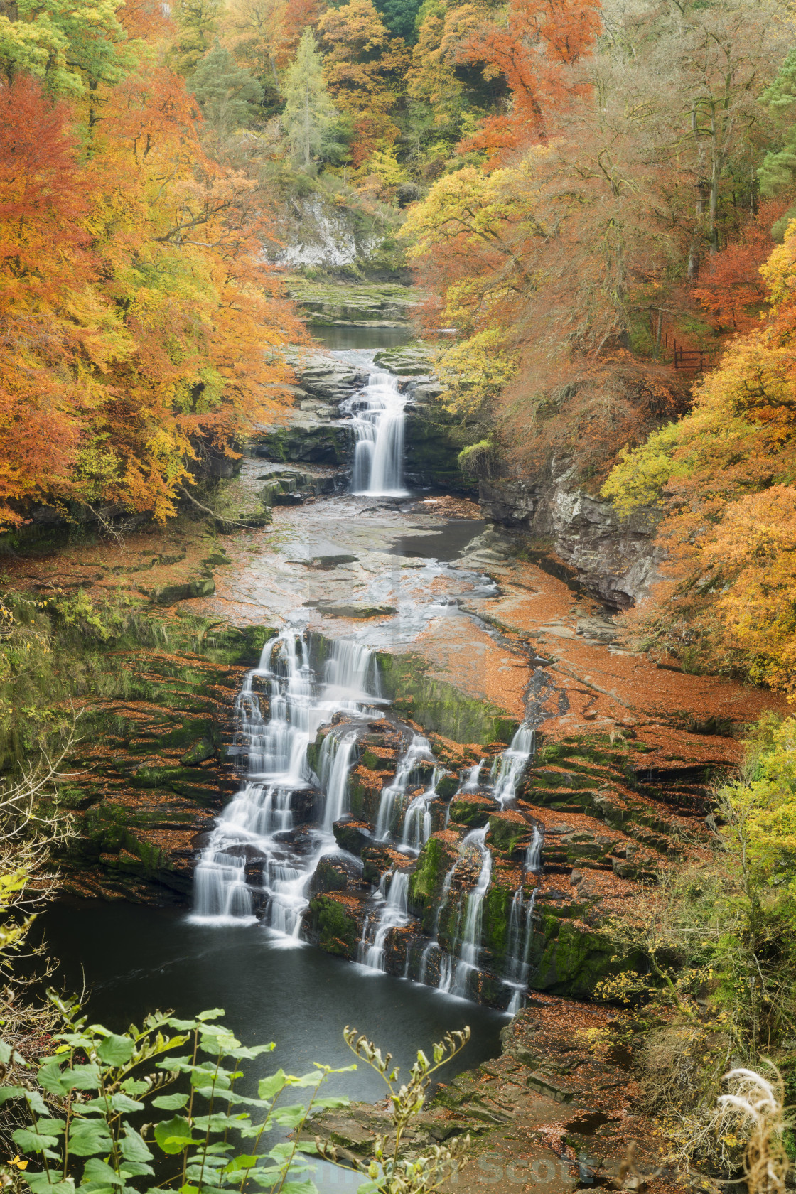 """Corra Linn In Autumn"" stock image"
