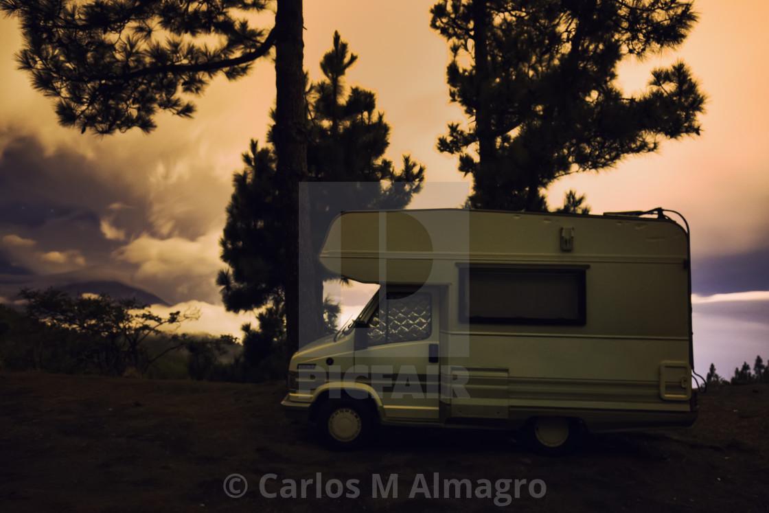 """Caravan in the mountain"" stock image"