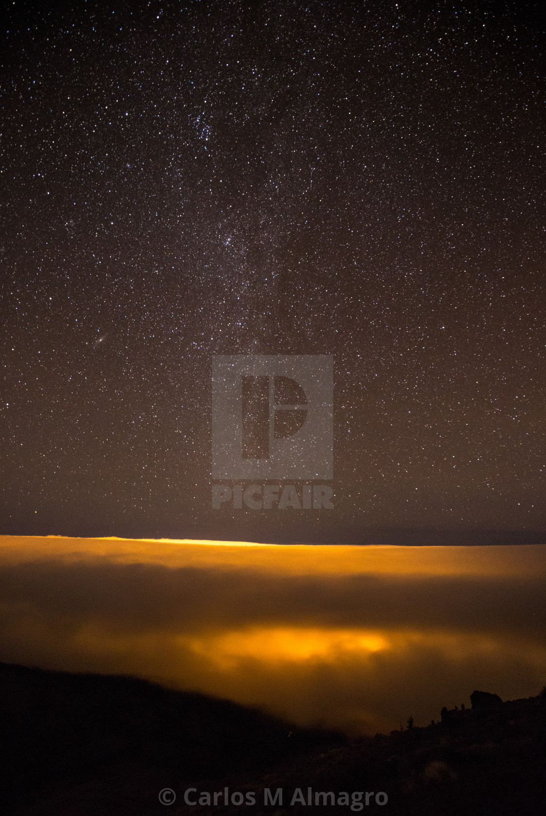 """""""Starry night with milky way"""" stock image"""