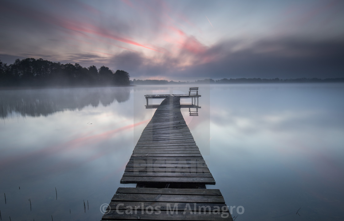 """Jetty by the lake"" stock image"
