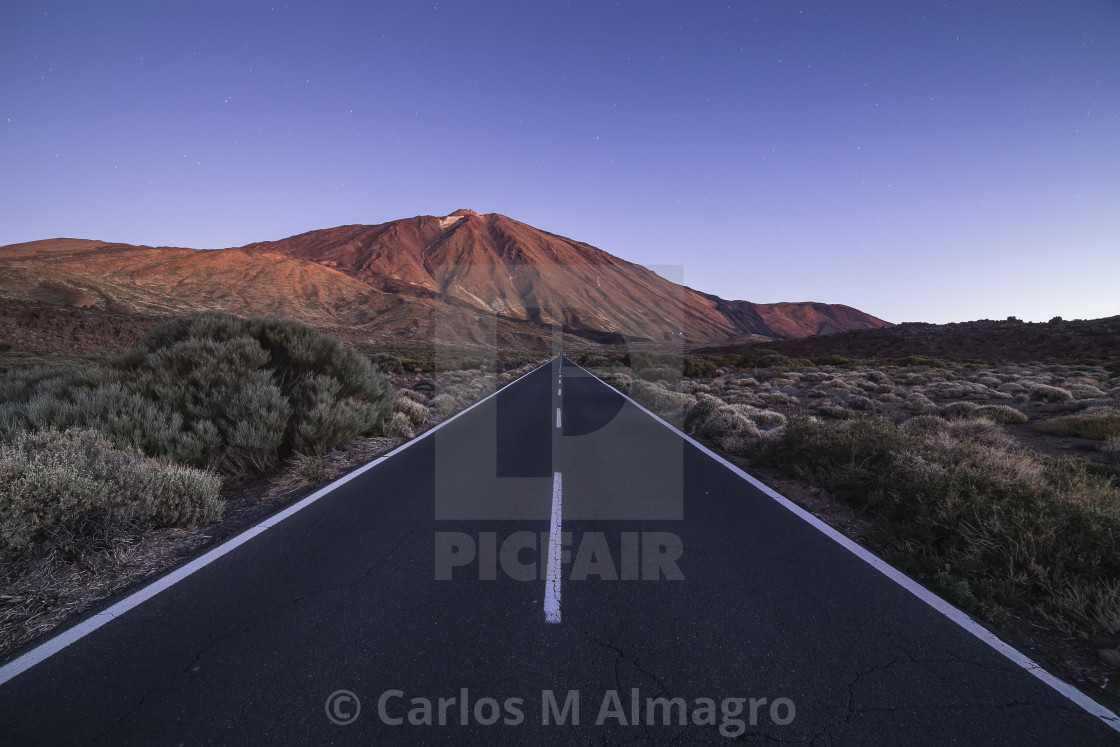 """Teide road"" stock image"
